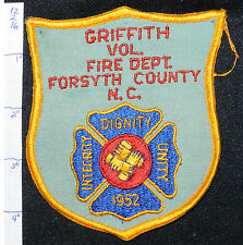 NORTH CAROLINA, FORSYTH COUNTY, GRIFFITH VOL FIRE DEPT PATCH