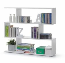Ciara Living Room 3 Tier Bookcase Room Divider Display Shelf Unit White