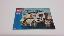 LEGO CITY !! INSTRUCTIONS ONLY !! FOR 7245 PRISON TRANSPORT