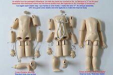 Corps 33 cm de poupée ancienne en bois reproduction d'ancien