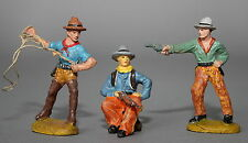 3 Massefiguren 2x Tipple-Topple Wildwest Cowboys 7,5 cm # 449