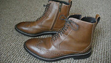 Cole Haan Men's Wingtip Ankle Boots Shoes with Nike Air, Brown 9 M  $300