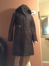 Womens Portrait Down Quilted Coat with hood Black sz m/s