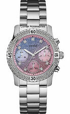 New Guess Watch for Women Pop Sugar Bubble Gum Pink and Berry Blue U0774L1