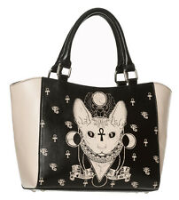Banned Apparel Bastet Egyptian Cat Siamese Sphynx Occult Power Tote Shoulder Bag