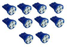 10x ampoule bleue T10 W5W 12V 4LED SMD veilleuses éclairage intérieur plafonnier