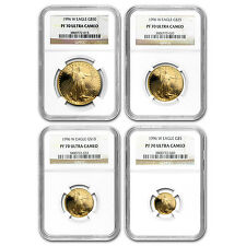 1996-W 4-Coin Proof Gold American Eagle Set PF-70 NGC - SKU #80443