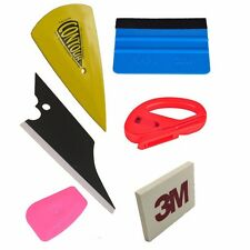Car Wrap Application Vinyl Tool Kit 3M Felt Squeegee Snitty Cutter 6 pieces tool