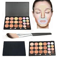 New 20Colors Contour Face Cream Makeup Concealer Camouflage Palette Powder Brush