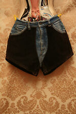 LEVIS Vintage Rare Worn Blue Jean Brown Suede High Waist Hot Pants Shorts W 32""