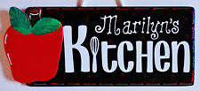 Personalize APPLE KITCHEN Name SIGN Wall Hanging Hanger Plaque Country Decor