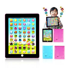 Pink Tablet Kids Pad Tab English Learning New Toy Xmas Gift for Girls Boys
