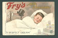 A Vintage ADVERTISING postcard - FRY'S Milk Chocolate