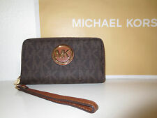 Michael Kors MK Geldbörse Phone Case LG wallet FULTON Brown Geldbeutel neu