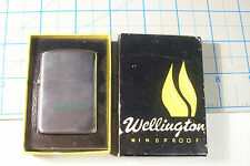 "USED VERY LITTLE WELLINGTON LIGHTER IN BOX ENGRAVED ""GILLIARD"""