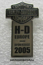 Harley Davidson H-D Europe Open House 2005 Pin New/Rare! FREE U.K. P&P!