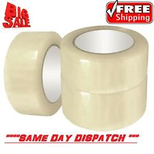 6 BIG Rolls Of CLEAR STRONG Parcel Tape Packing sellotape Packaging 48mm x 66m