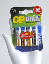 GP Ultra Plus No.1 Alkaline Power Battery AA Mignon LR6 Pack Universal Batterien