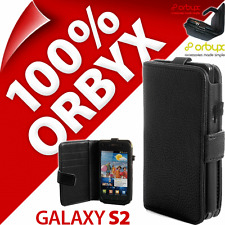 New Orbyx Folio Case For Samsung i9100 Galaxy S2 Wallet Cover Flip PU Leather
