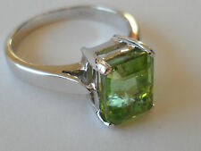 BEAUTIFUL 18K PARAIBA TOURMALINE WHITE GOLD RING 3.290CT COPPER BEARING.