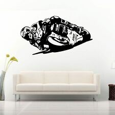 V. ROSSI MOTO Wall Art MOTO RACER Decalcomania Grafica Adesiva Unica