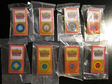 COMPLETE Pokemon League JOHTO Badge/Pin Set Gold/Silver Duel Tournament Gym 2001