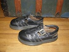 Women's Dr. Martens Black Leather Buckle Casual Sandals Size US 9 England Made