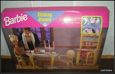 NRFB  VINTAGE 1996 MATTEL BARBIE DOLL DINING ROOM PLAYSET FOR HER HOME