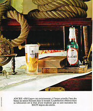 PUBLICITE ADVERTISING 104  1963  ANCRE  bière OLD LAGER