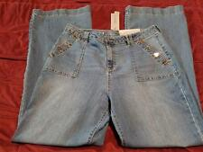 JENNIFER LOPEZ WOMENS JEANS HIGH RISE FLARE SZ 16 NWT RETAIL $64
