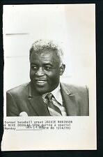 Jackie Robinson guest on The Mike Douglas Show Press Wire Photo Brooklyn Dodgers