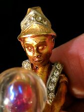 HAR VINTAGE TURBANNED FORTUNE TELLER PIN BROOCH-signed, excellent condition