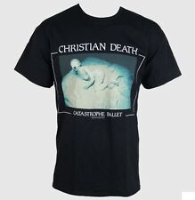 NEW Christian Death Catastrophe Ballet Black Band Tshirt/Top Gothic Rock 2XL/XXL