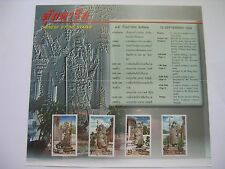 MUH 1998 THAILAND CHINESE STONE STATUE 4 STAMP PRESENTATION Book FDC COMM NEW