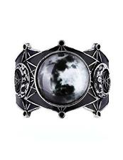 Moon Geometry Bracelet Bangle Cuff Full Crescent Phases Gothic Boho Witch Gypsy