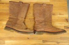 Dr. Martens Jenny Pull On Brown Suede Lined Boots Size UK 8 US 10 Euro 42