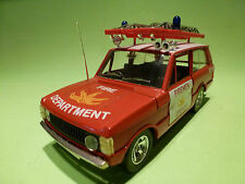 BBURAGO  0104 RANGE ROVER - FIRE DEPARTMENT  NY 54 - RED  - 1:25  - VERY GOOD