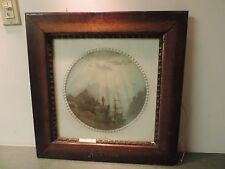 Antique Oak Wood  Carved Autumn Gesso Trim 22 x 22  17 x 17 Picture Frame Print