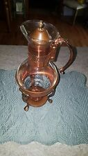 Vintage Copper Colored Coffee/ Tea Carafe Pot with Stand