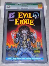 Evil Ernie 1 (1991) CGC 9.0 Signed Steven Hughes Brian Pulido 1st Lady Death