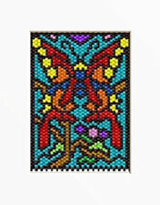 Monarch Stain Glass~Pony Bead Banner Pattern Only