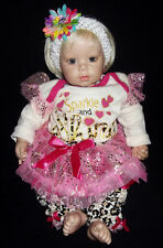 """ADORA KRV-048 NAME YOUR OWN BLONDE HAIR VIOLET EYES 18"""" REALISTIC GIRL BABY DOLL"""