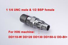 Core drill adapter Hilti DD110-W DD120 DD130 DD150-U DD-BI+ to 1-1/4 UNC+1/2BSP