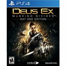 PS4 Deus Ex Mankind Divided D1 Day One Edtn NEW Sealed Region Free USA