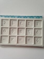 Alphabet Moulds Baby Block Numbers Numerals Sugarcraft Mould NEXT DAY DESPATCH