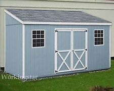 4' x 12' Slant / Lean To Style Shed Plans / Building Blueprints & Guides # E0412
