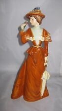 """Goebel Fashion On Parade """"The Visitor"""" #16 279-21~LADY BROWN W/ FLOWERS ,lot705"""