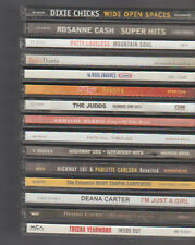 Country Music Lot of 15 CDs Judds Highway 101 Dixie Chicks Rosanne Cash