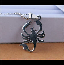 Scorpion Womens Men's Silver 316L Stainless Steel Titanium Pendant Necklace NEW