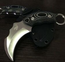 SCORPION CLAW AUS-8A Stainless Fixed Blade Karambit Survival Knife with K-Sheath